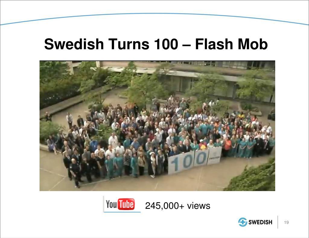 Swedish Turns 100 – Flash Mob