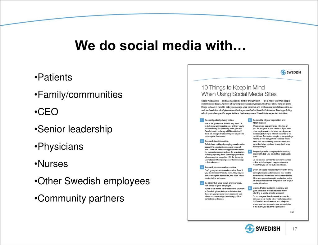 We do social media with…