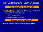 self understanding early childhood5