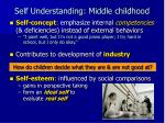 self understanding middle childhood
