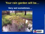 your rain garden will be