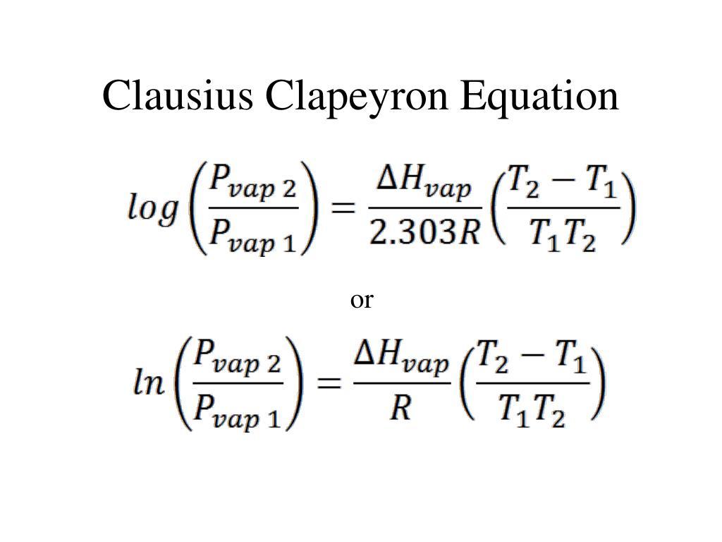 Clausius Clapeyron Equation