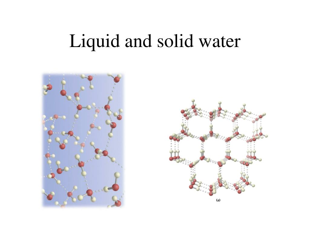 Liquid and solid water