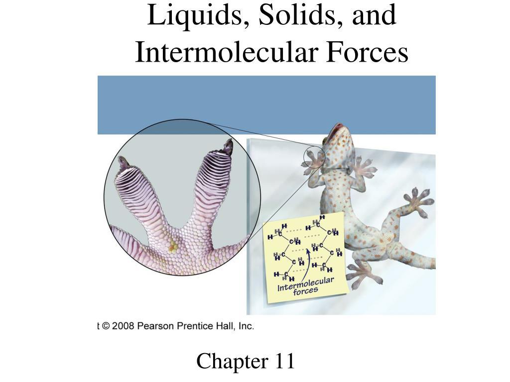 Liquids, Solids, and Intermolecular Forces