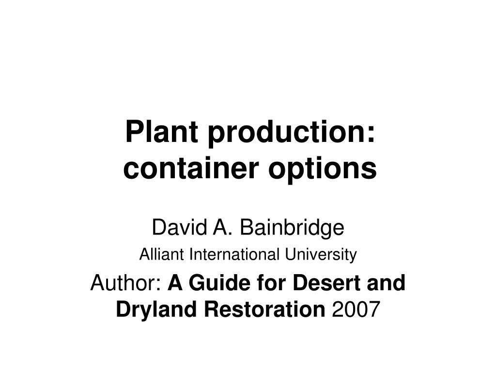 plant production container options l.