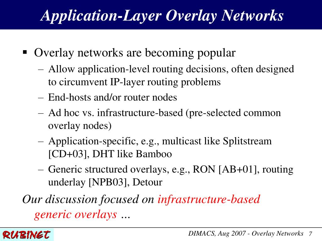 Application-Layer Overlay Networks