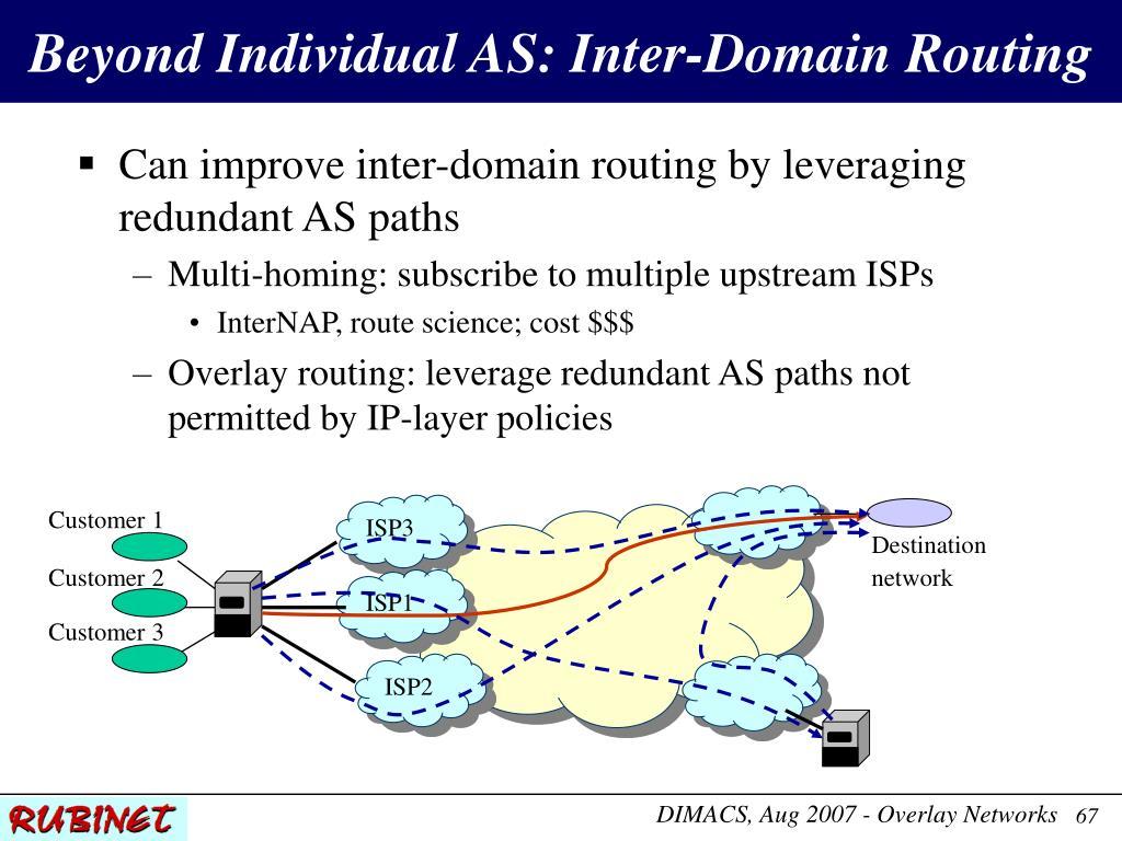 Beyond Individual AS: Inter-Domain Routing