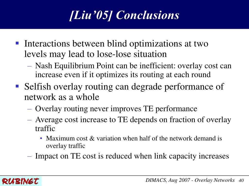 [Liu'05] Conclusions