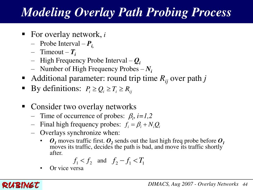 Modeling Overlay Path Probing Process