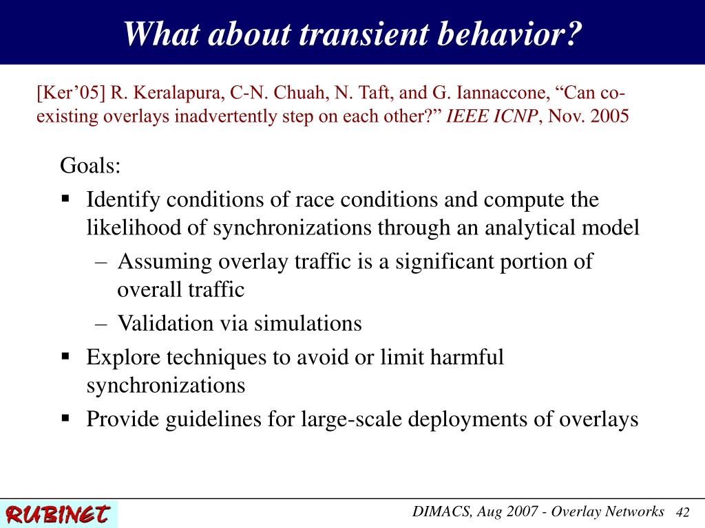 What about transient behavior?