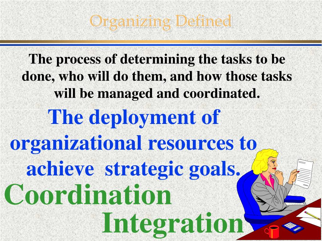 Organizing Defined