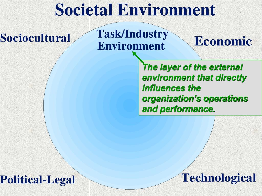 The layer of the external environment that directly influences the organization's operations and performance.