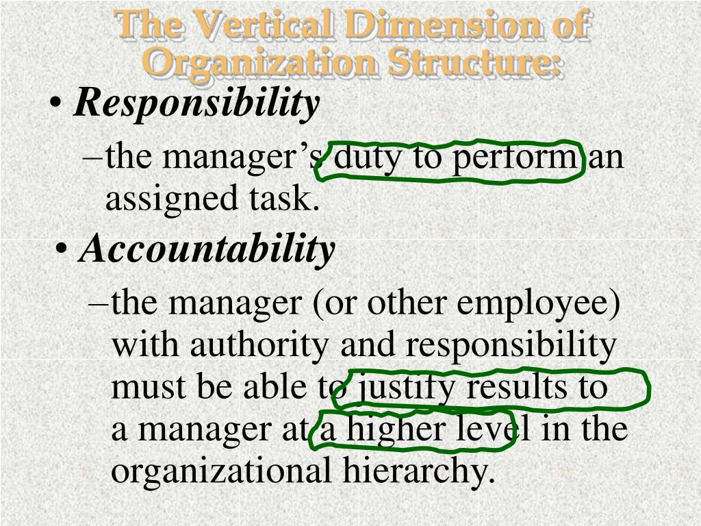 The Vertical Dimension of Organization Structure: