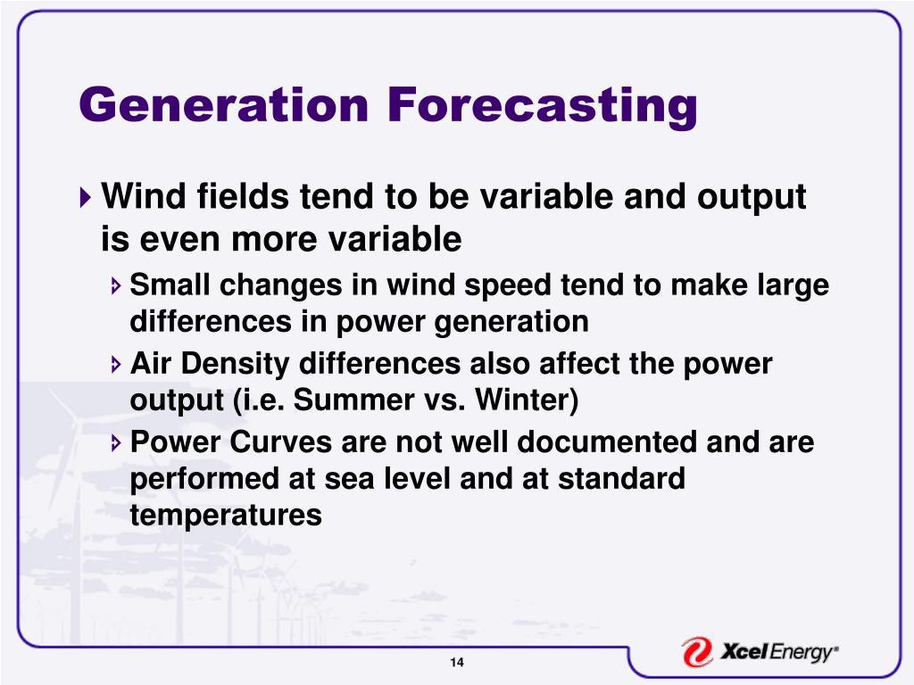 Generation Forecasting