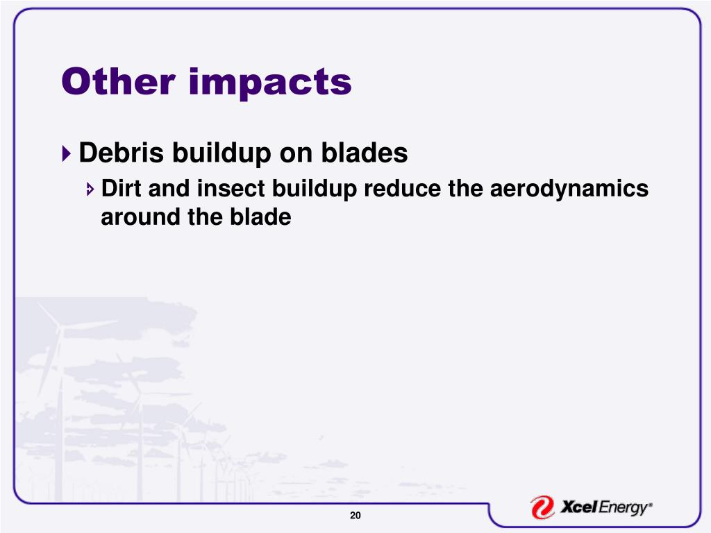 Other impacts