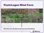 peetz logan wind farm