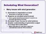 scheduling wind generation