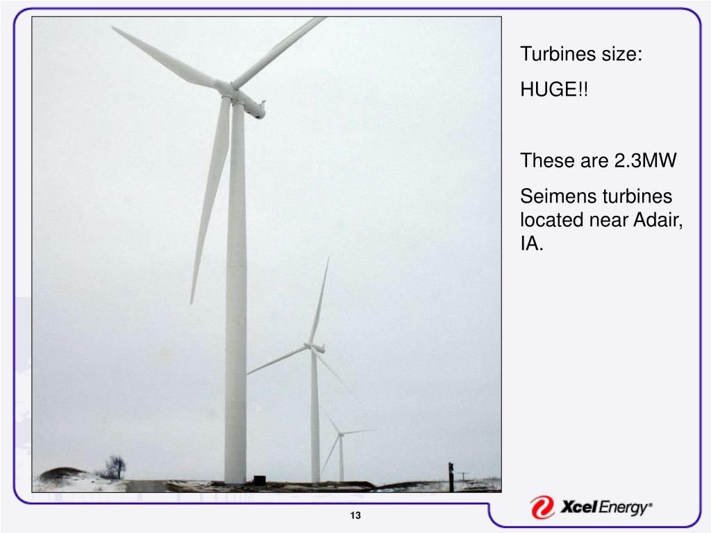 Turbines size: