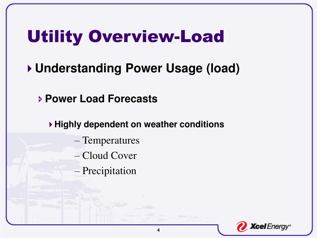 Utility Overview-Load