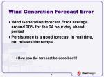 wind generation forecast error