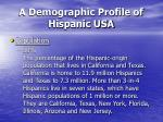 a demographic profile of hispanic usa20