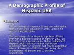 a demographic profile of hispanic usa28