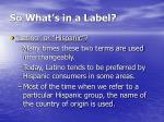 so what s in a label10