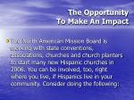 the opportunity to make an impact50