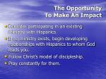 the opportunity to make an impact52