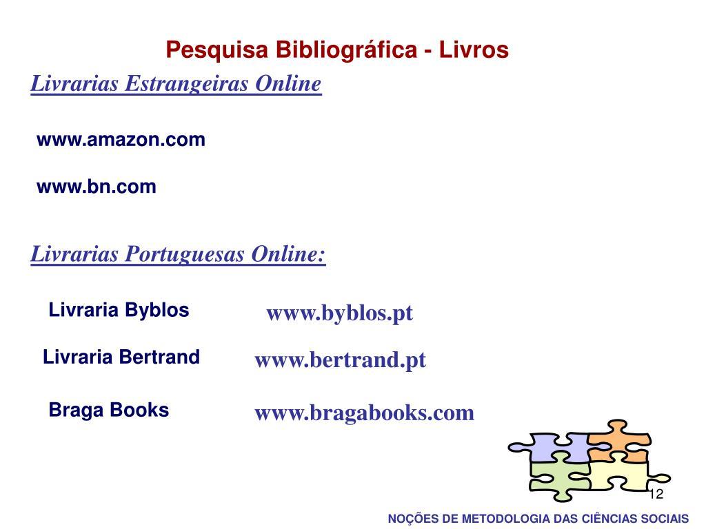 Pesquisa Bibliográfica - Livros