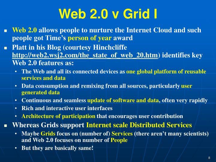 Web 2.0 v Grid I