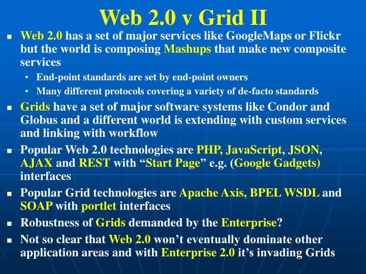 Web 2.0 v Grid II