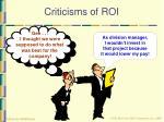 criticisms of roi44