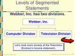 levels of segmented statements