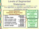 levels of segmented statements13