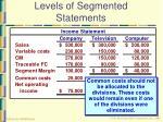 levels of segmented statements17