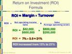 return on investment roi formula41