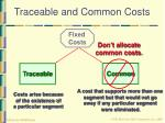 traceable and common costs