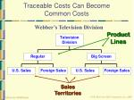 traceable costs can become common costs19
