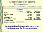 traceable costs can become common costs20