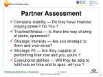 partner assessment