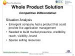 whole product solution competitive differentiation