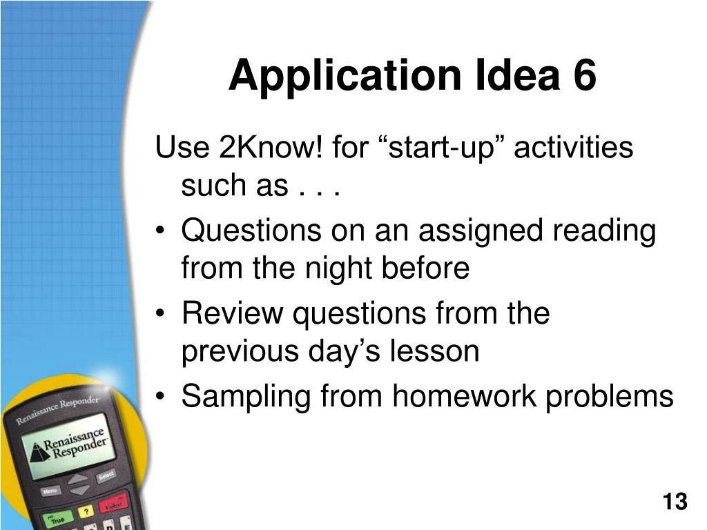 Application Idea 6