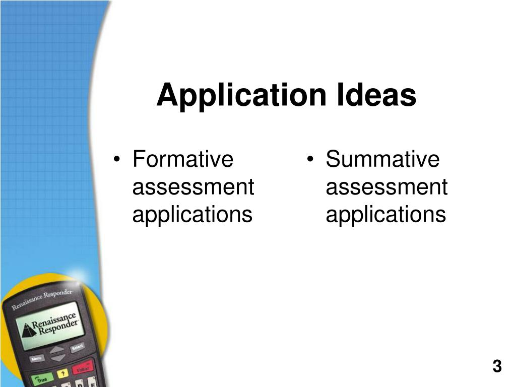 Summative assessment applications