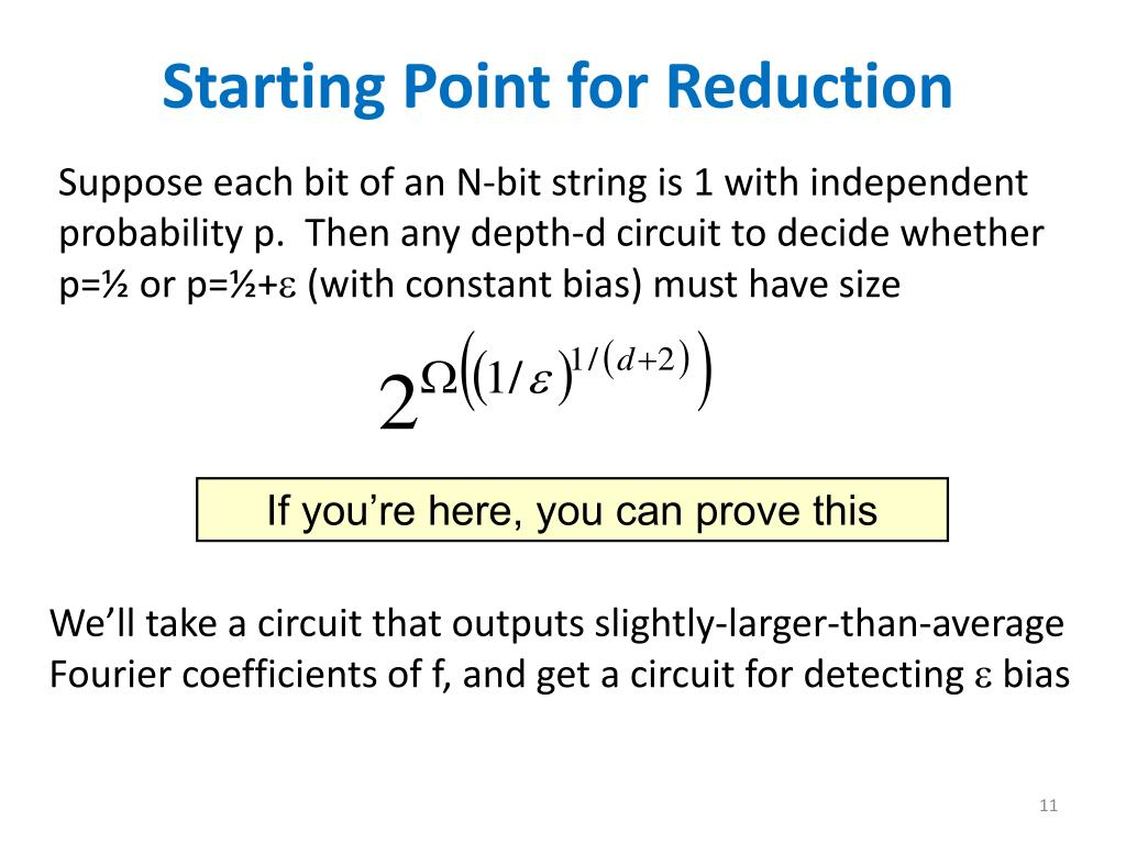 Starting Point for Reduction