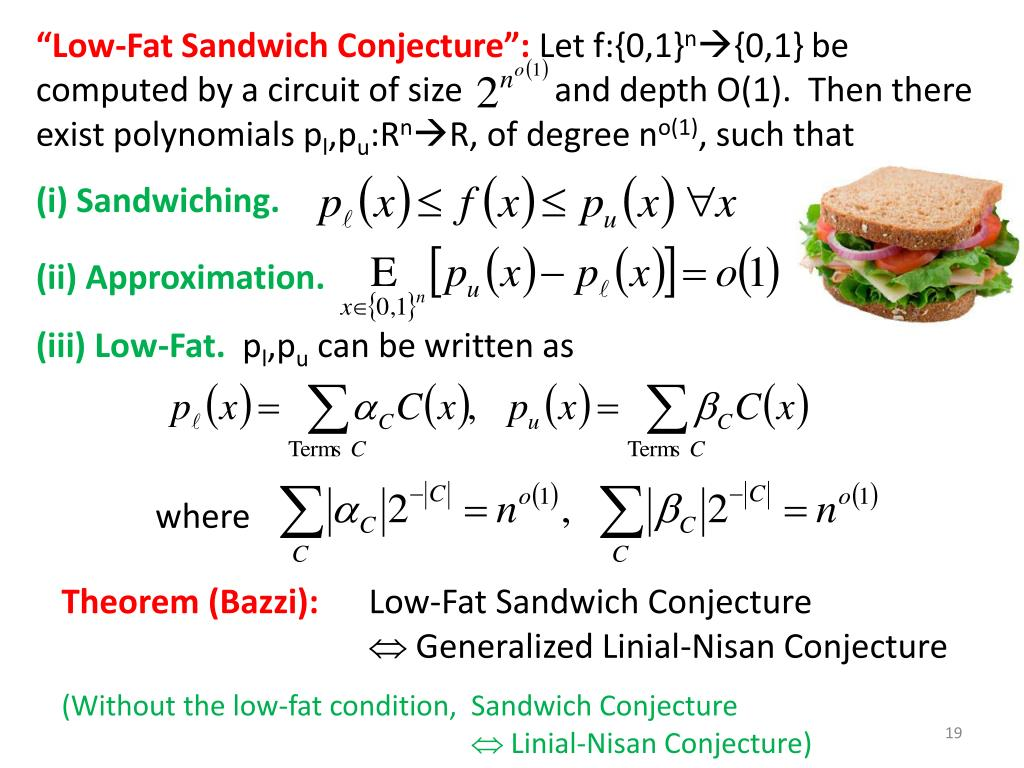 """Low-Fat Sandwich Conjecture"":"