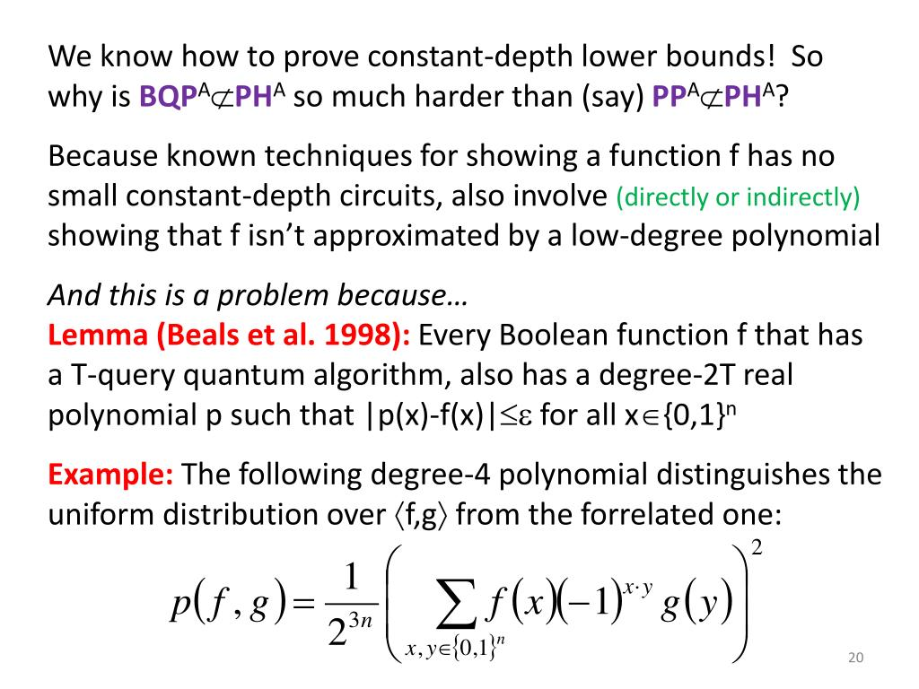 We know how to prove constant-depth lower bounds!  So why is