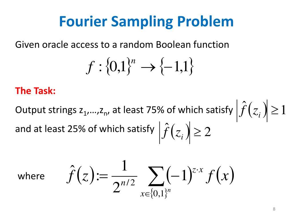 Fourier Sampling Problem
