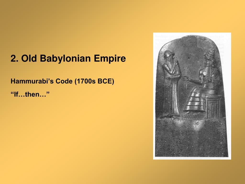 2. Old Babylonian Empire