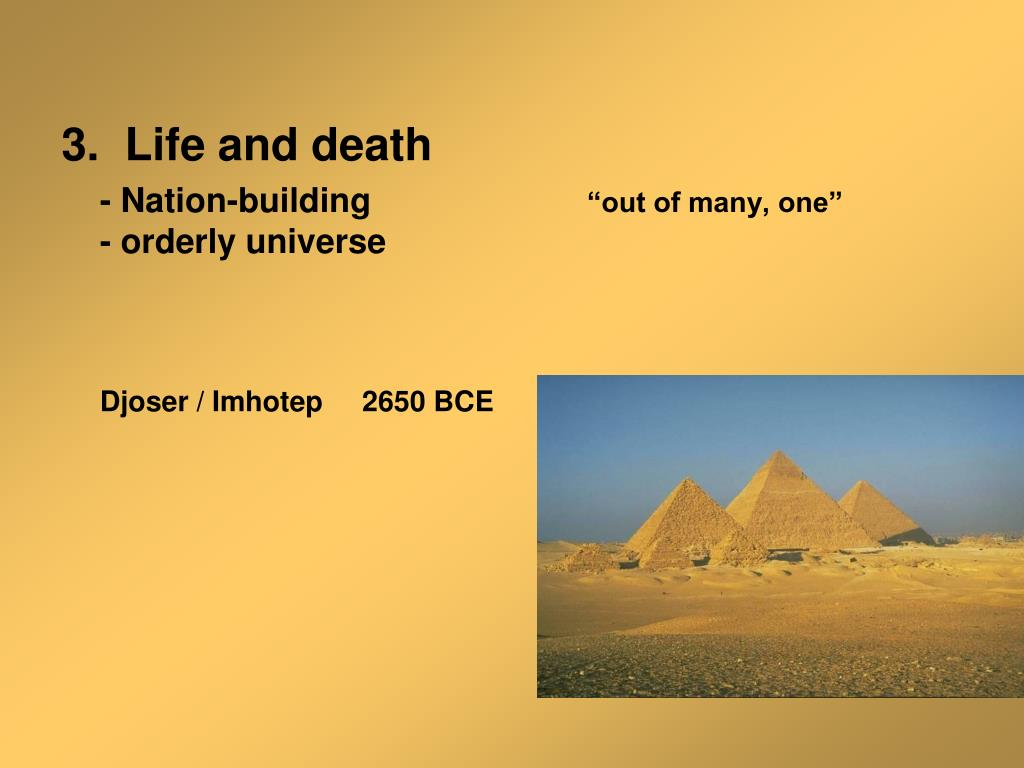 3.  Life and death